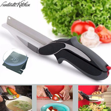 Fantastische Küche Clevere Cutter Messer Cutter 2-in-1 Küche Werkzeug Gemüsehobel Dicer Gemüseschneider Obstmesser cutter