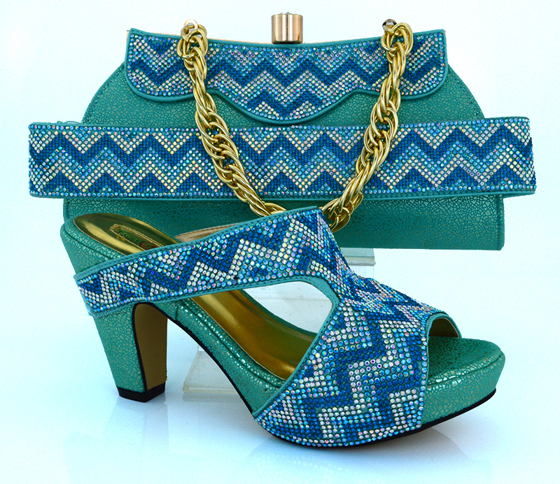 ФОТО  High Quality Excellent Style African shoes and bag high heel for African wedding,Shoes and bag to match!HVB1-45