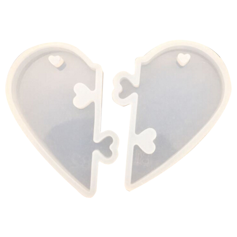 1PC Love Locks For Lovers Pendant Liquid Silicone Mold DIY Jewelry Mold For Epoxy Resin Uv Resin Mold