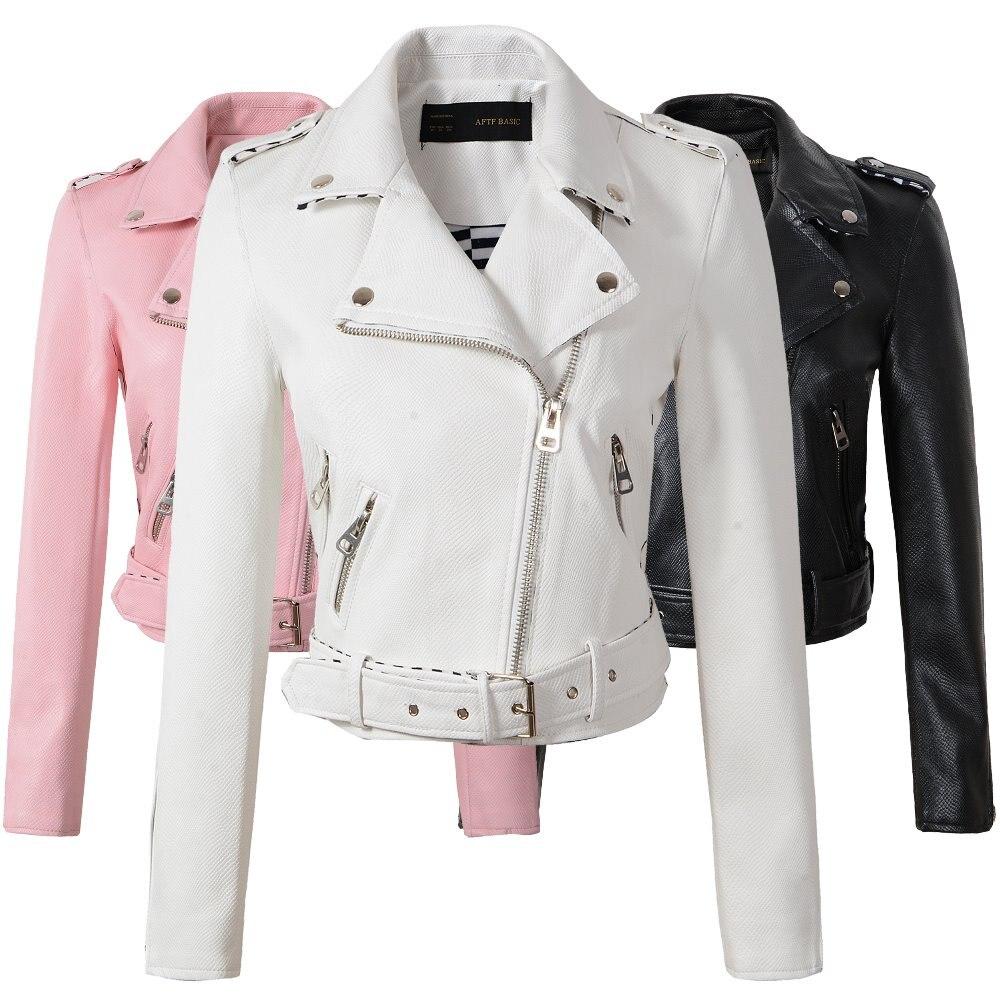 Size S-XL Fashion 2019 Autumn Winter Women   Leather   Coat Female Slim Short   Leather   Jacket Women's Outerwear 4 Color Good Quality