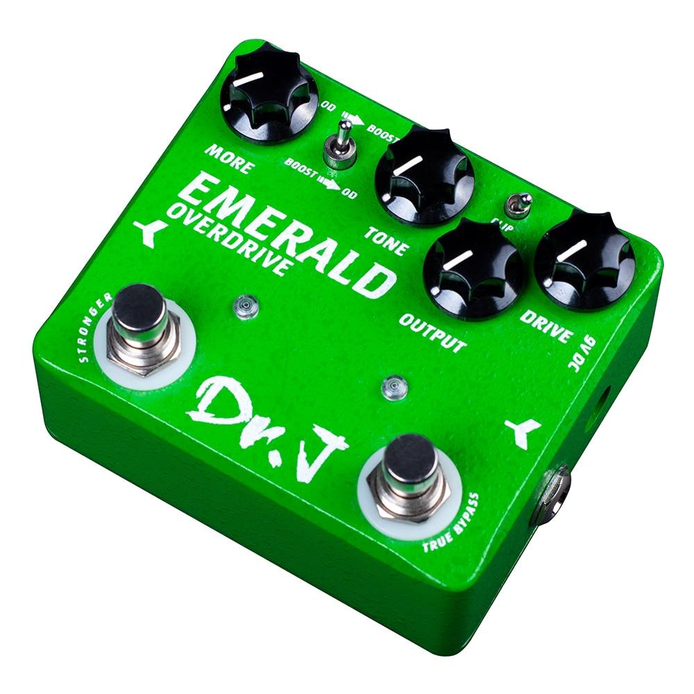 купить Dr. J D60 Professional Guitar Accessories EMERALD Analog Overdrive Electric Guitar Effect Pedal efeito True Bypass по цене 5670.99 рублей