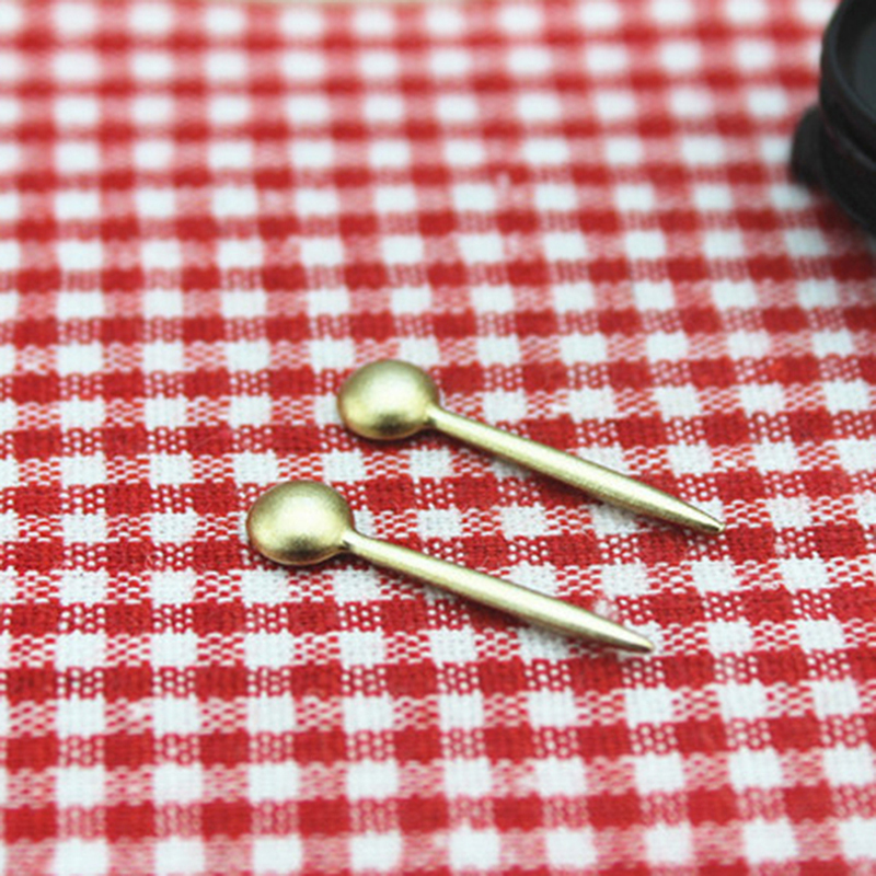 1Pcs 1/12 Dollhouse Miniature Accessories Mini Alloy Spoon Simulation Kitchen Tools Model Toys For Doll House Decoration