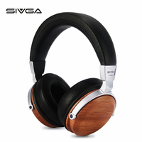SIVGA SV002 Over ear Portable Wooden Dynamic Headphones With microphone HIFI DJ Monitor Studio music Earpiece headset earphones