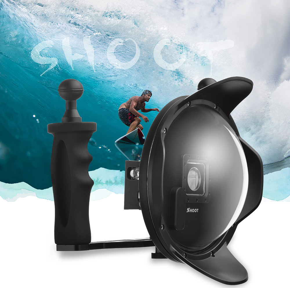 Upgraded 3.0 Version 6 inch Diving Underwater Handheld Stabilizer Lens Hood Dome Lens Dome Port  for Gopro Hero 3+/4 shoot 6 inch diving underwater dome lens dome port for gopro hero 4 3 black silver camera underwater photography
