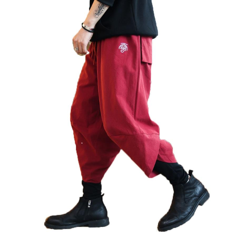 Ropa Para Entrepierna Wine Baile De Hip blue red Lc7017 Jogger Plus Gota Hop Estilo Black Hombre Pantalones Hombres Casual Streetwear Tamaño Japón Harem La TqqSUprw