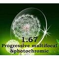 Index1.67 fina Cr-39 lentes multifocais progressivas e prescrição fotocromáticas resistência ao impacto / anti riscos