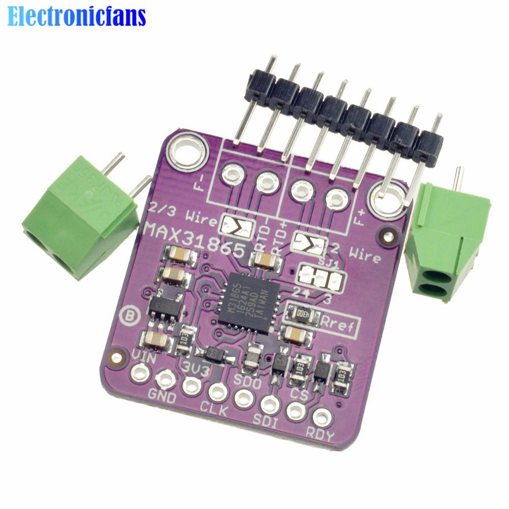MAX31865 SPI PT100 PT1000 RTD to Digital Converter Board Temperature Thermocouple Sensor Amplifier Module For Arduino 16 ohms 2wire rtd dolgular com sm 1231 rtd wiring diagram at arjmand.co