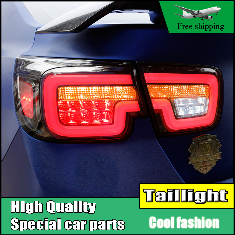 Car Styling tail lights For Chevrolet Malibu 2011-2014 taillights LED Tail Lamp Rear lamp DRL+signal+brake+reverse Light car styling tail lights for chevrolet captiva 2009 2016 taillights led tail lamp rear trunk lamp cover drl signal brake reverse