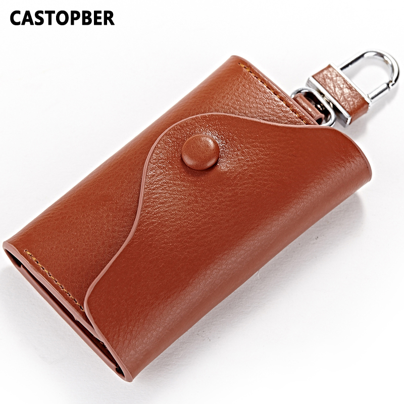 Designers Fashion Unisex Cowhide Split Leather Key Holder Coin Purse Key Wallets Case For Mens High Quality Women Bag Famous
