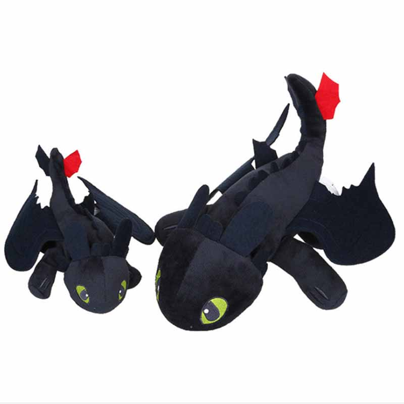Fancytrader 20'' / 50cm How to Train Your Dragon Lovely Plush Soft Stuffed Big Toothless Toy, Great Gift 8pcs set anime how to train your dragon 2 action figure toys night fury toothless gronckle deadly nadder dragon toys for boys