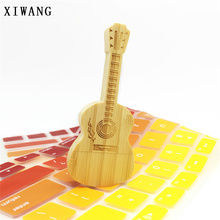 usb flash drive 128GB 2.0 pen 64gb pendrive 32gb 4gb 8GB wooden guitar box 16gb 1 free custom LOGO gift