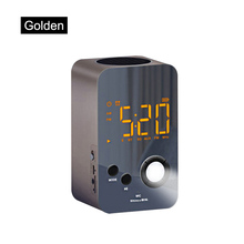 Speaker Alarm Clock Wireless Bluetooth Mirror Portable Mini Bass Digital USB FM Radio Hot Sale