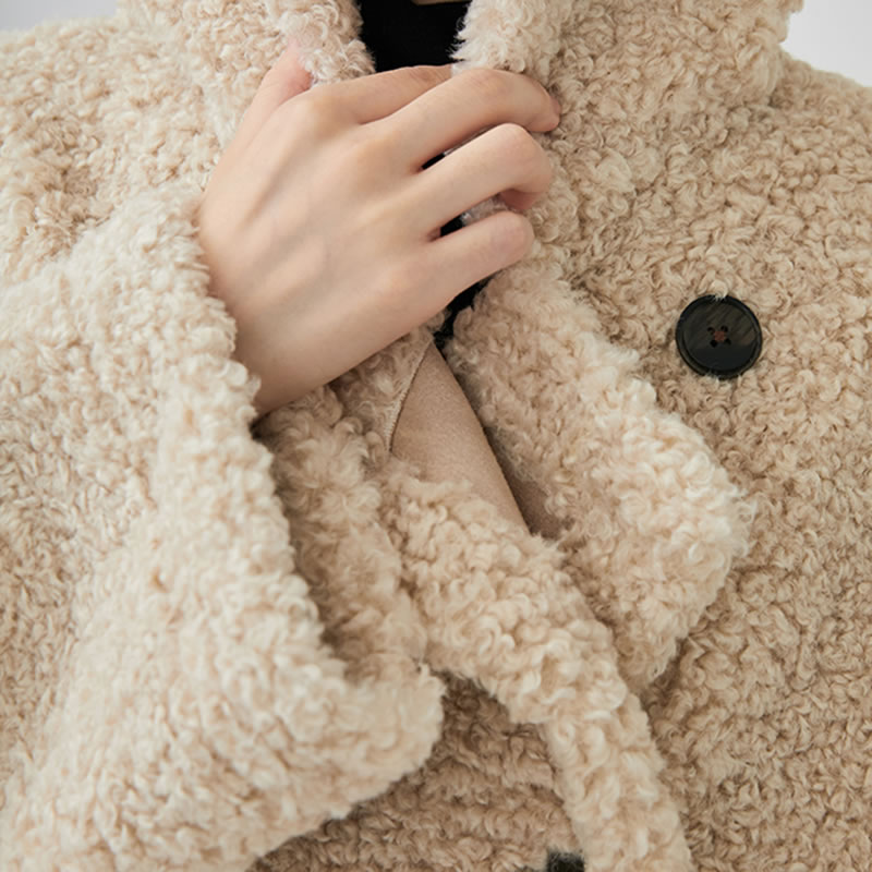 Manches Complet Breasted xitao Beige 2018 Doubl Collier Corée Veste Femelle Couleur Femmes Lâche Manteau Décontractée Lyh1091 Mode Unie Stand De wFwAqP