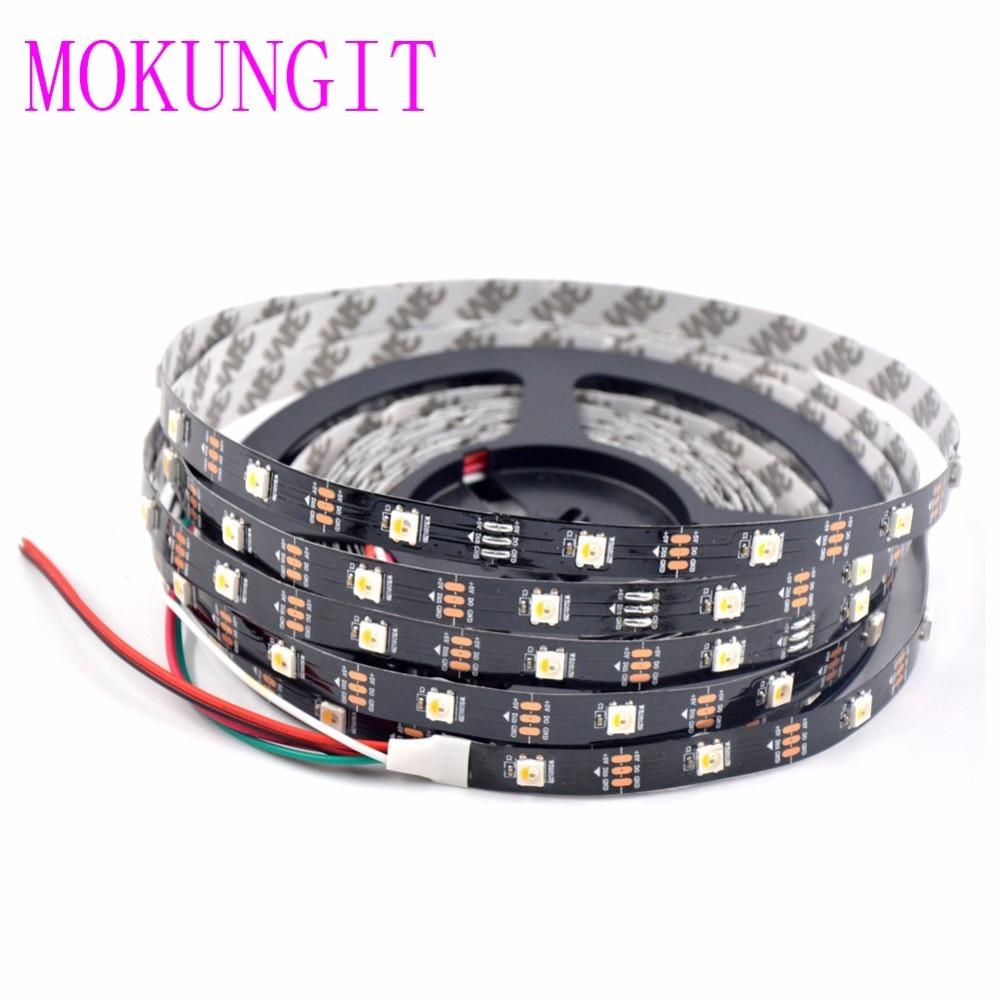 20M 4X5M SK6812 RGBW RGBWW 4 in 1 Chip 30leds/Pixels/m 5050 SMD LED Strip BlackWhite PCB IP30 IP65 IP67 Individually Addressable