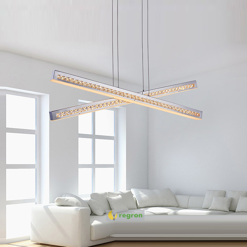 High quality Led Modern Minimalist Crystal Pendant Lamp Light Luxury Living Room Bedroom Art Creative Restaurant Hanging Lights m best price new modern crystal hanging lamps creative crystal pendant lamp luxury bedroom living room led ceiiling light