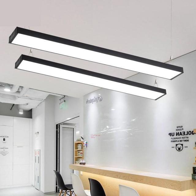 Led office Pendant Light modern strip light rectangular balcony aisle Hanglamp corridor modeling lamps fishing line lights
