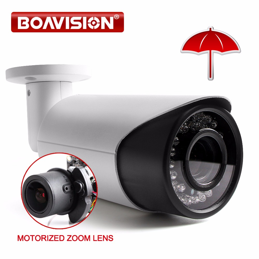 H.264 2MP HD 1080P IP Camera Outdoor Network Bullet Camera POE Port 4X Zoom Auto Iris Motorized Lens IR 40m Security Camera ds 2cd4026fwd a english version 2mp ultra low light smart cctv ip camera poe auto back focus without lens h 264