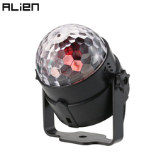 ALIEN 3W RGB LED Crystal Magic Ball DJ Disco Ball Lumiere Sound Activated Stage Lighting Effect Music Christmas Party Holiday