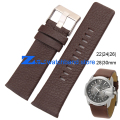 Genuine leather strap watchband 22|24|26|28|30mm Brown accessories Wrist watch band Soft and comfortable watch bracelet