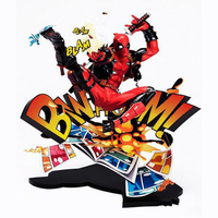 Deadpool action model figure 24cm Super hero collection comics kids toy Christmas gift with box decoration PVC Y7662