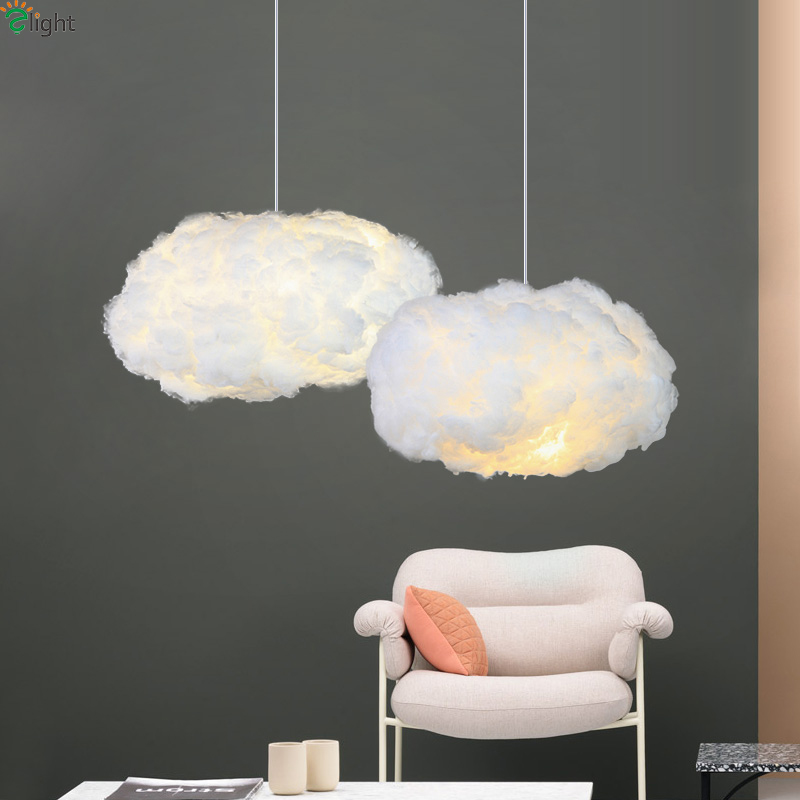 Modern Floating Cloud Led Pendant Lights Dining Room White Silk Led Led Pendant Lamp Bedroom Lightning Pendant Light FixturesModern Floating Cloud Led Pendant Lights Dining Room White Silk Led Led Pendant Lamp Bedroom Lightning Pendant Light Fixtures