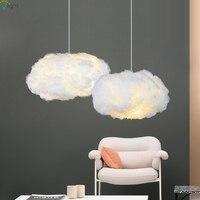 Modern Floating Cloud Led Pendant Lights Dining Room White Silk Led Led Pendant Lamp Bedroom Lightning Pendant Light Fixtures