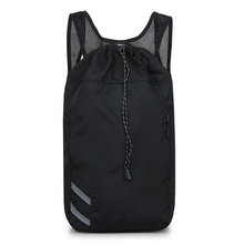 Basketball Package Lightweight and Soft Large Capacity Backpack Preppy Sytle Black Travel Bag for Young Man Fashion Bucket bag