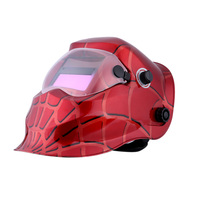 Professional Welding Helmet Red Cobweb Solar Auto Darkening Welding Mask Welding & Soldering Supplies Suitable for Laser Welding