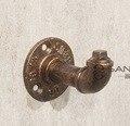 L: 9 cm diâmetro da base: 6.5 cm retro antigo ferro rack de roupas cabide gancho da tubulação industrial
