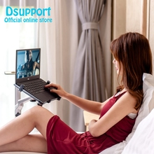 Free Shipping 3 in1 UP-8 Aluminum Alloy 7-13″ Tablet PC+ Smartphone Holder + Laptop Floor Stand Rotary Swivel with Mouse Tray