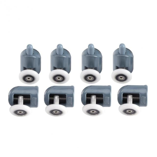8Pcs/lot Shower Door Rollers Twin Bottom Top Shower Door Rollers Pulleys Wheels Runners Bathroom  sc 1 st  AliExpress.com & 8Pcs/lot Shower Door Rollers Twin Bottom Top Shower Door Rollers ...