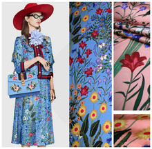 145cm Italian printed fabric fashion dress scarf polyester material diyparent-child wholesale cloth