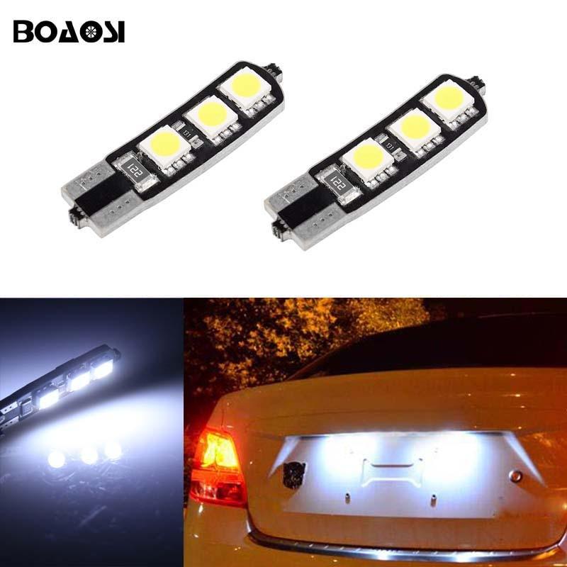BOAOSI 2x T10 LED W5W Samsung 5050SMD matrícula del coche bombillas - Luces del coche - foto 1