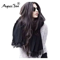 200cm 70cm Winter Oversize Scarves Simple Fashion Warm Blanket Unisex Solid Wrap Cashmere Scarf Shawl Pashmina