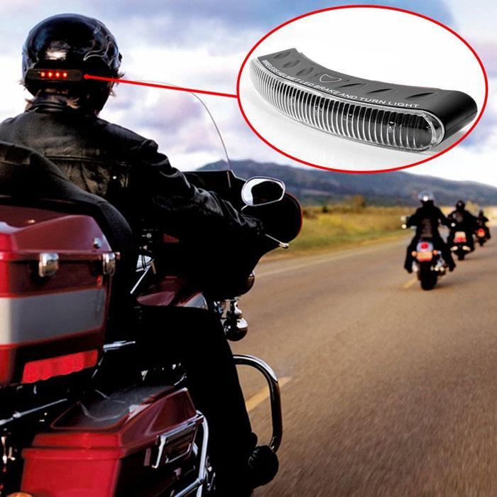 Universal 8 LED Motorcycle 2.4G Wireless Helmet Brake Turn Signal Warning Racer Lights Lamps