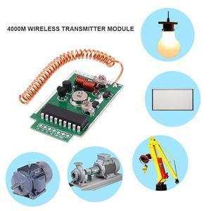 Image 5 - 1/2/3pcs 390MHz DC9V 4000m RF Remote Wireless Transmitter Module Large Power 4km Long Distance PCB Board Launcher Receiver Kit
