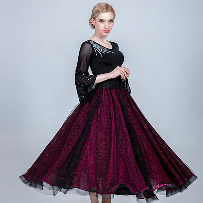 Ballroom Dance Skirt Women Flamenco Skirt Ballroom Dress Standard Social Dress Waltz Skirt Dance Wear Women Spanish Skirt