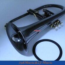 Профессиональные черные никелевые золотые флюгелхорн монельные клапаны Bb Fluge рога с чехлом и бесплатным кольцом LORICO MUTE