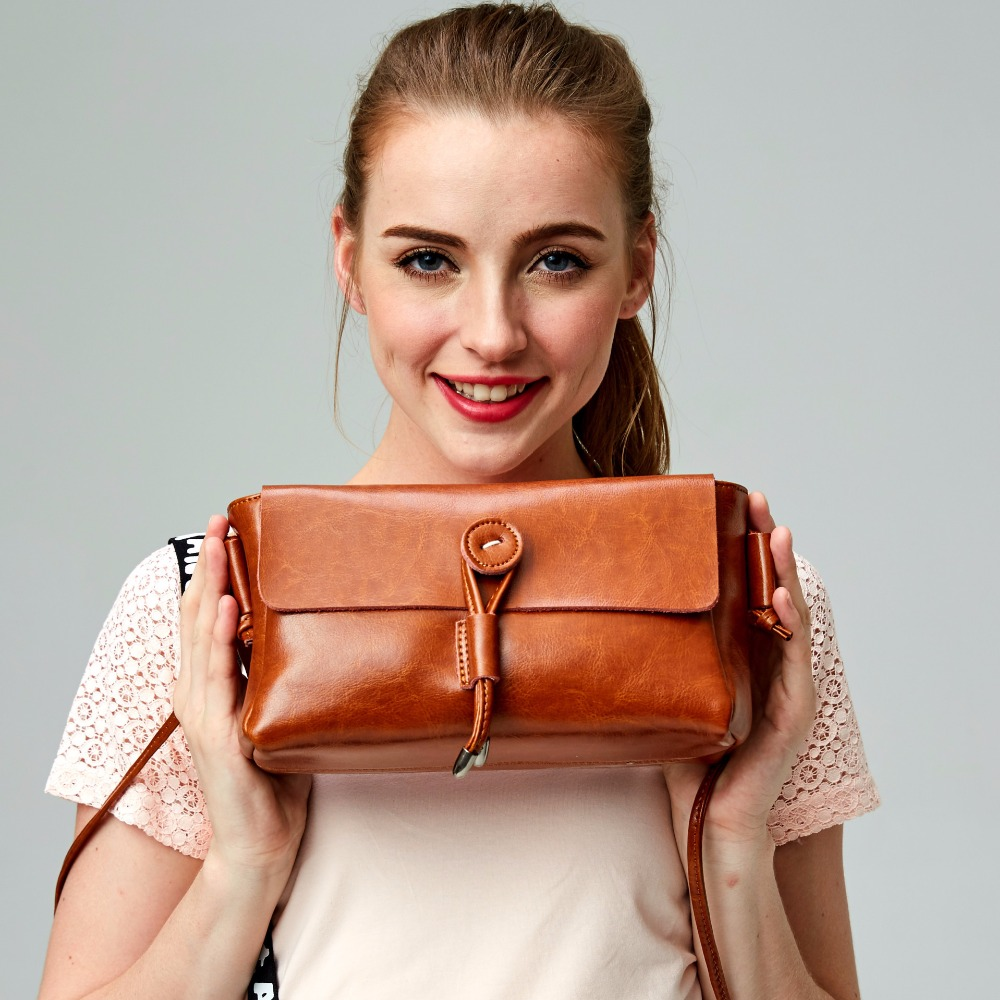 hot sale women messgeger  genuine leather flap shoulder bags female bag