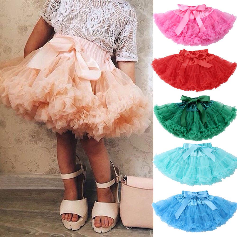 Girls Kids Dress Fluffy Tutu Skirt Princess Party Petticoat Ballet Pettiskirt