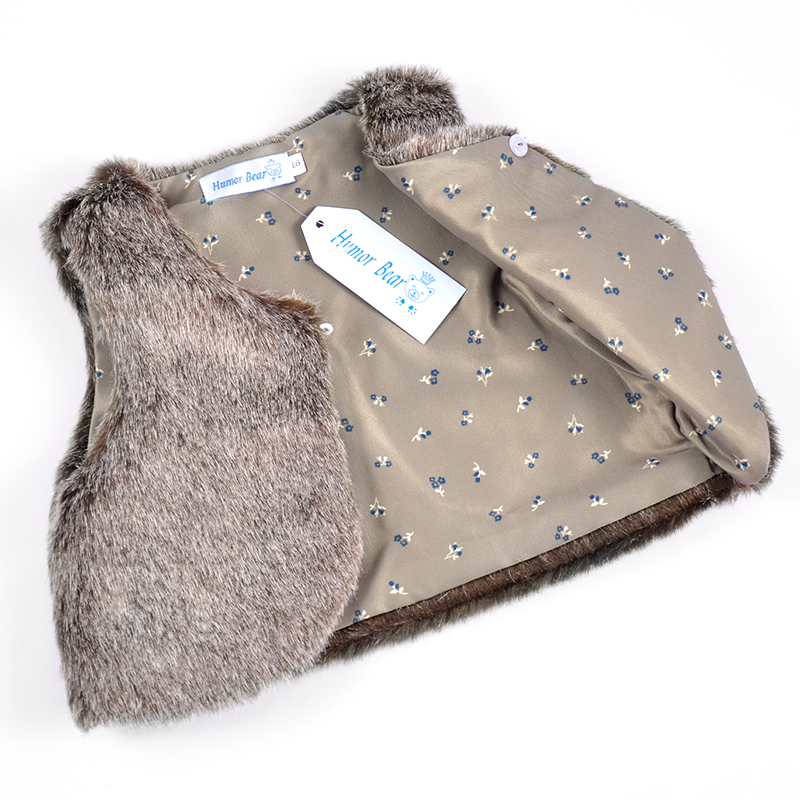 857fa219b316 Autumn Winter Baby Sleeveless Faux Fur Vest Baby Girl Clothes Winter ...