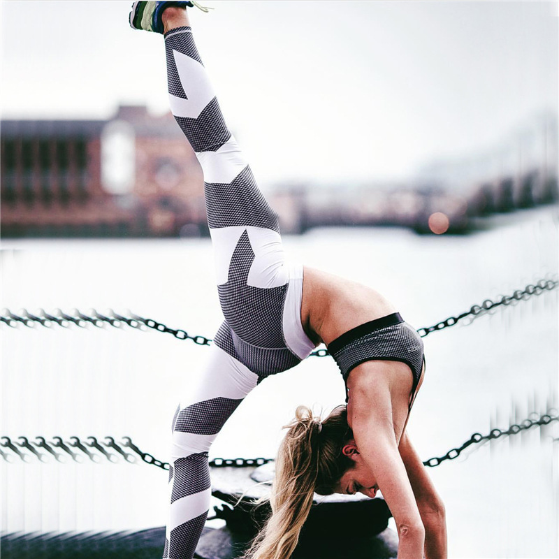 2018 Women Fitness Yoga Sports Leggings For Women Sports Tight Mesh Yoga Pants Women Running Pants Tights