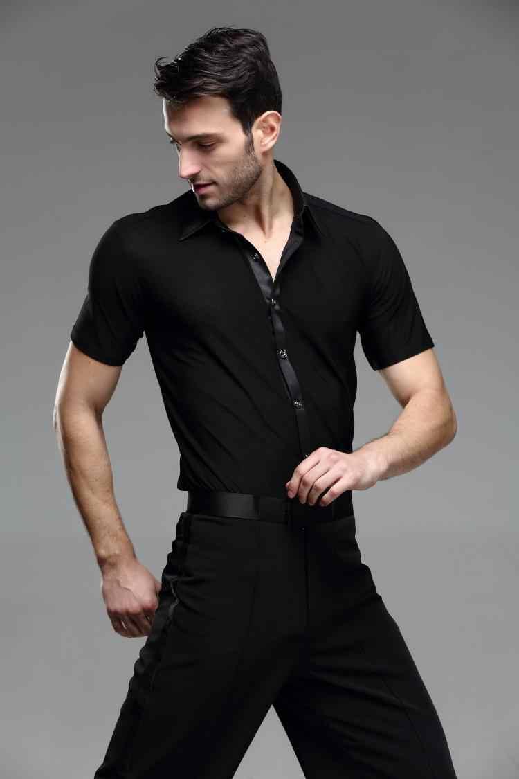 8d6a311363f5 ... adult male men's Latin dance Shirt mens shirts Latin clothes modern  dance Rumba cha-cha ...