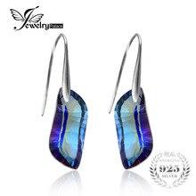 Jewelrypalace 23ct genuino azul místico del arco iris topacio pendientes earring 925 joyería de plata de ley gema joyería fina para las mujeres