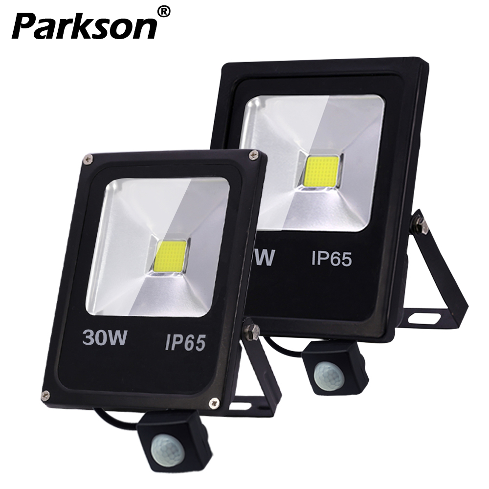 Motion Sensor LED Flood Light IP65 Waterproof 50W 30W 10W Foco Led Exterior SpotLight Reflector AC 220V Outdoor Lighting & Light