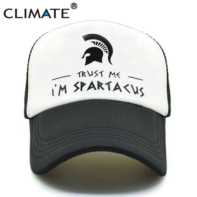 CLIMATE Men New Trucker Caps Spatacus Spartak Cool Black Caps Hot Summer I  Am Spatacus Spartan 2a68f960c5b