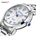 LONGBO Casual Stainless Steel Band Sports Quartz Watches Dial Clock For Men Women Couples Leisure Watch Relogio Masculino 80023