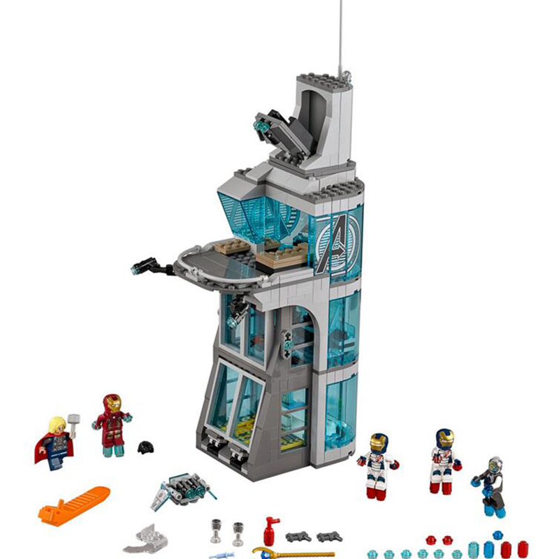 ФОТО unids tower attack avenger iron man thor marvel super hero game compatible with other  bricks toy building blocks 7114
