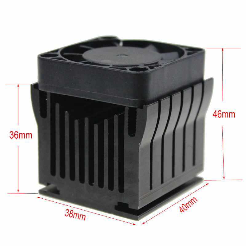 Купить с кэшбэком DIY Aluminium Northbridge Heatsink Cooler Motherboard Radiator w/4cm Fan For PC Computer Case South North Bridge Chipset Cooling