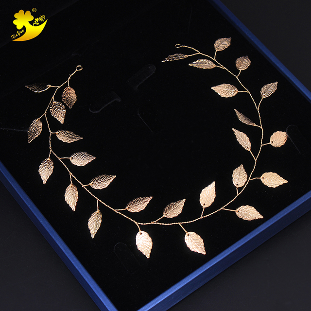 Xinyun Wedding Headbands Bridal Ornaments Beautiful Leaves Headbands Fashion Women Hair Band Simple Elegant Bride Accessories  1